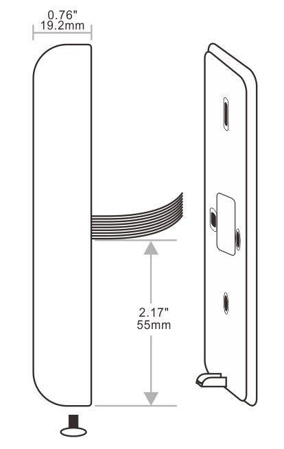 门禁一体机的尺寸图